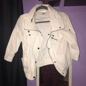 Jackets & Blazers - Charlotte Rousse White Jacket